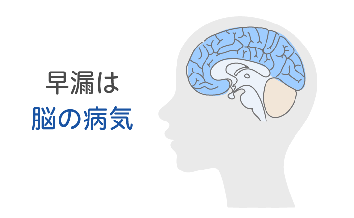 早漏は脳の病気